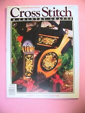 Cross Stitch & Country Crafts Magazine  Nov/Dec 1990 Issue with 22 Projects