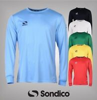 Mens Sondico Classic Football Training Long Sleeves Shirt Top Sizes S M L XL XXL