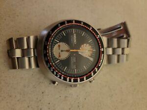 Vintage Seiko 6138-0017 UFO Yachtman Chronograph Automatic Day Date Watch