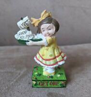 "Vintage Enesco Mary Engelbreit ""Lives - Get One"" Figurine 3"" 1998"