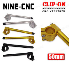 "50mm Clip-On HandleBars 7/8"" Fit Yamaha YZF-R1 1998-2017 FZ6 04-09 FZ1 2001-2008"