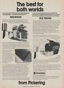 Pickering - XSV/5000/XLZ/7500S Phono Cartridge - Original Magazine AD -