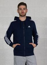 (tg. Medium) adidas Ess 3s FZ B Felpa con cappuccio Uomo Blu Navy/bianco M -