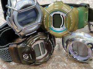 LOT of 4 Casio Baby-G BG-172, BG-310, BG-350, MSG-133 watches
