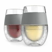 Freeze Cooling Wine Glasses Set Of 2 Freezer Cups Grip New