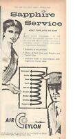 1960 Original Advertising' Vintage Air Ceylon Airline Company Aerial Service