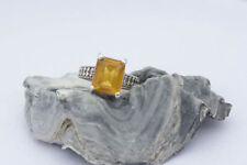 Citrine Band Sterling Silver Fine Rings