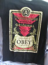 """OBEY Propaganda 7'4"""" 520 lbs Andre The Giant Black T Shirt Size Small"""