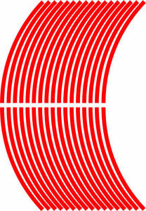5mm wheel rim tape striping stripes stickers RED..(38 pieces/9 per wheel)