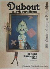"""""""DUBOUT ET LA VIE QUOTIDIENNE / EXPO 1980"""" Affiche originale entoilée 54x74cm"""