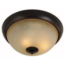 Oil Rubbed Bronze 2 Light Flush Mount Ceiling Light Fixture #167970