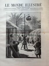 LE MONDE ILLUSTRE 1888 N 1638 AU CAMBODGE: LE JEU DES TRENTE-SIX BÊTES