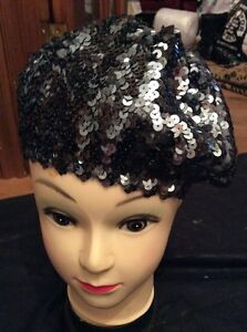 SEQUINNED HAT NEXT Grey Silver Sequinned Beret Sparkly 11-13 Yrs