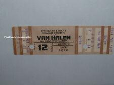 VAN HALEN 1980 Full Concert Ticket SAN DIEGO SPORTS ARENA David Lee Roth RARE