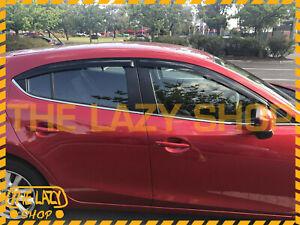Injection Weathershields, Weather Shields for Mazda 3 BM BN sedan hatch 13-19 #S