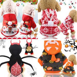 Christmas Dog Clothes Winte Coat Clothing Santa Costume Pet Halloween Clothes