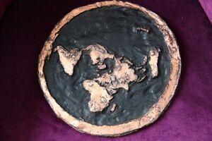 FLAT EARTH 3D COPPER MAP very rare, 100% handmade