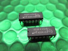 2x MT4264-10 64k x 1 Dram page mode used on Apple Comodore 64 Atari MT4264-15