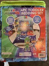 PJ Masks Kids Soft Reversible 4 Piece Toddler Bedding Set - NEW