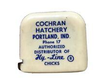 Cochran Hatchery Hy Line Dealer Of Chicks Vintage Tape Measure Portland Ind