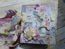 Handmade Mini Scrapbook Paper Bag photo Album Paper Crafting....Ocbrandy Style