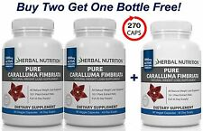 Pure Caralluma Fimbriata 1000mg 10:1 Extract Three Bottle Pack Weight Loss Caps
