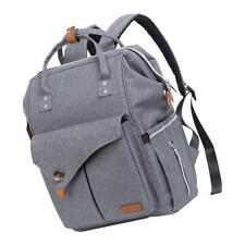 Large Diaper Bag Waterproof Travel Outdoor Leisure Backpack for Mom Grey