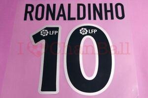 Ronaldinho #10 2003-2004 Barcelona Awaykit Nameset Printing