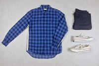 Folk - Shirt - Blue/Black Check - 2/Small