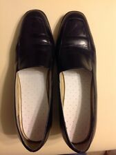 Socialites Lucky Black Leather business Oxford slip on Shoes Women's Size 10N