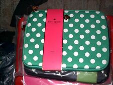 Kate Spade sleeve for iPad/tablet green with white dots