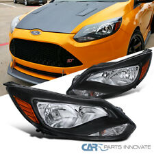 For 12-14 Ford Focus Black Clear Factory Style Replacement Headlights Head Lamps