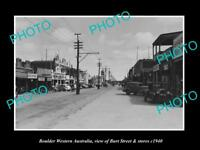 OLD LARGE HISTORIC PHOTO OF BOULDER WESTERN AUSTRALIA, VIEW OF BURT St c1940