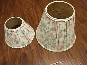 pink/green floral lampshade set