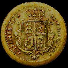 "P814: 1850's Queen Victoria Model Half Sovereign - Tiny - ""JOHN COOKE & SONS"""