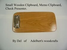 Small Wooden Solid Cherry Clipboard, Memo Clipboard, Check Presenter Handcrafted