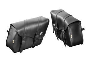 YAMAHA XV 1900/ XVS 950 MIDNIGHT STAR Leather Saddle Bags/ Panniers (HH 02-2620)