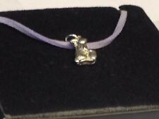 "Rabbit & Egg TG320 English Pewter On 18"" Purple Cord Necklace"