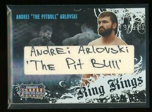 Andrei Arlovski Rookie Auto Signed 2008 Donruss Americana Ring Kings MMA