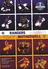 * 2017/18 SCOTTISH LEAGUE CUP SEMI-FINAL - MOTHERWELL v RANGERS *
