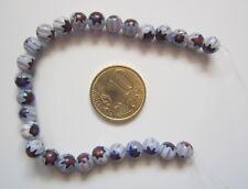 Hilo perlas cristal milflores 6 mm X 27 UNIDADES gama granate azulado abalorios