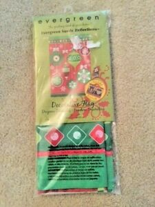 """NEW Evergreen Suede Reflections (TM)  Decorative Flag 29"""" X 43"""" Merry Christmas"""