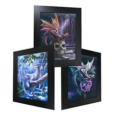 3 Dimension 3D Lenticular Picture Dragon Drake Skull Rose Dungeon Dark Magic