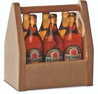 Biertragl con 6 Botellas 27318 bodo hennig Casa de Muñecas Casa de Muñecas