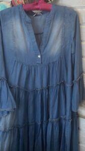 Devotion Style Greek Dress Denim Look One Size