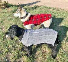 LARGE Dog Pet Coat RC Pets Whistler Winter Wear Red Tartan Plaid Fleece + BONUS!