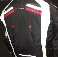 Giacca Moto Uomo Sport Tessuto A-Pro Mansel colore rosso bianco nera 3xl