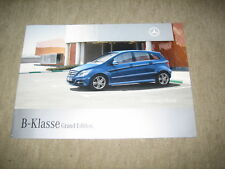 Mercedes B-Klasse T245 Grand Edition Prospekt Brochure von 3/2008