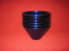 Vintage Cobalt Blue Glass Nesting Bowls Lot of Six Made in Spain
