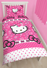 SOMMERWIND HELLO KITTY SINGLE DUVET QUILT COVER KIDS GIRLS CHARACTER BEDDING SET